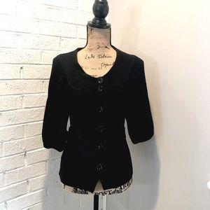 Ann Taylor 3/4 Sleeve Black Cardigan | Medium